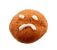 Broodje met droevig gezicht Stock Foto