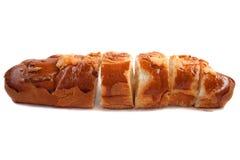 Broodje met geïsoleerdee kaas Royalty-vrije Stock Afbeelding