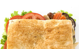 Broodje met groenten Royalty-vrije Stock Afbeelding
