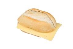 Broodje met kaas stock afbeelding