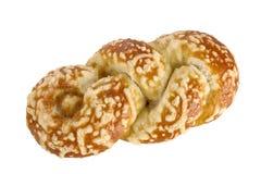 Broodje met kaasgratin stock foto's