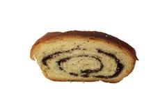 Broodje met papaverzaden Stock Foto's