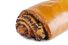 Broodje met papaverzaden Stock Afbeeldingen