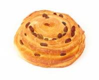 Broodje met rozijnen Stock Foto's