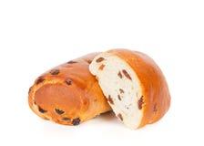 Broodje met rozijnen Royalty-vrije Stock Afbeelding