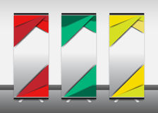 Broodje op banner, informatie, kleur, reclame, vertoningstribune Stock Foto