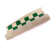 Broodje-op schaakbord met algebraïsche aantekening stock fotografie