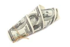 Broodje van geld. Stock Fotografie
