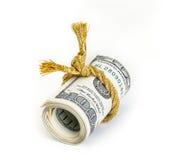 Broodje van honderd dollarsrekeningen Royalty-vrije Stock Afbeeldingen