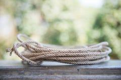 Broodje van kabel voor voor een bundel stock fotografie