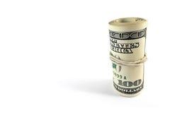 Broodje van rekeningen op honderd dollars Stock Foto's