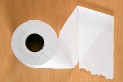 Broodje van toiletpapier stock foto