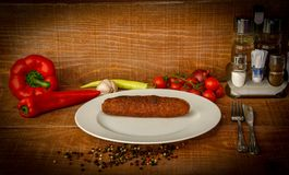 Broodje van vlees stock foto's