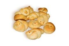 Broodjes in de vorm van vogeltjes Royalty-vrije Stock Afbeelding