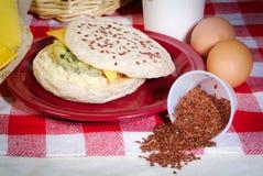 Broodjes en ingrediënten Stock Foto