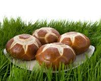 Broodjes in het gras. Stock Foto's