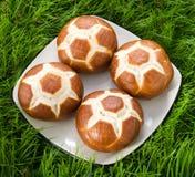Broodjes in het gras. Royalty-vrije Stock Afbeelding