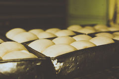 Broodjes in het Maken royalty-vrije stock foto