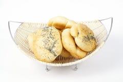 Broodjes in mand Royalty-vrije Stock Foto