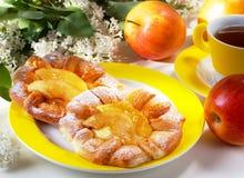 Broodjes met appelen Stock Foto