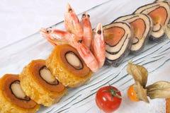 Broodjes met bacon en groenten Royalty-vrije Stock Foto's