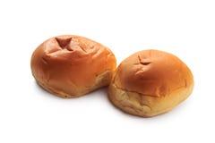 Broodjes met geïsoleerde room Royalty-vrije Stock Fotografie