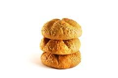 Broodjes met jam op een witte achtergrond Royalty-vrije Stock Fotografie