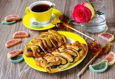Broodjes met papaver Stock Afbeelding