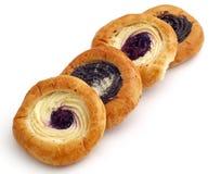 Broodjes met papaverzaad en kwark Royalty-vrije Stock Afbeeldingen