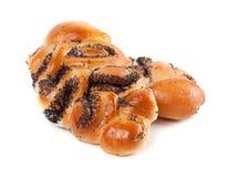 Broodjes met papaverzaden Stock Foto's