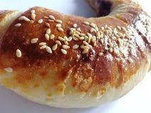 Broodjes met sesam en jam stock fotografie