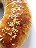 Broodjes met sesam en jam royalty-vrije stock afbeelding