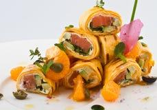 Broodjes met vissen Royalty-vrije Stock Afbeeldingen
