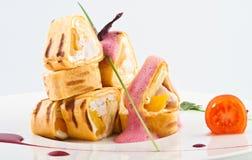Broodjes met vissen Stock Fotografie