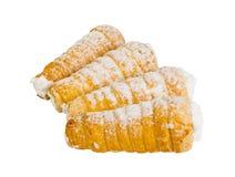 Broodjes met vla worden gevuld die Royalty-vrije Stock Fotografie