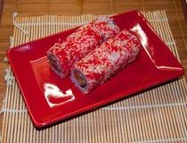 Broodjes met zalm Royalty-vrije Stock Afbeeldingen