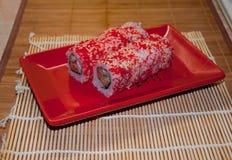 Broodjes met zalm Stock Afbeelding