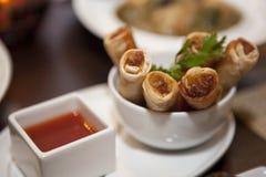 Broodjes met zoetzure saus Royalty-vrije Stock Foto's