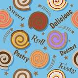 Broodjes naadloos patroon Stock Illustratie