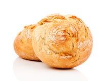broodjes op de witte achtergrond Stock Afbeeldingen