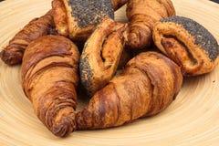 Broodjes op een plaat Royalty-vrije Stock Foto
