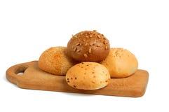 broodjes op een raad Royalty-vrije Stock Fotografie