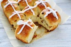 Broodjes op het document stock foto's