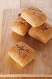 Broodjes op houten achtergrond Royalty-vrije Stock Foto