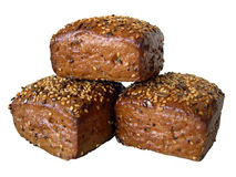 Broodjes op witte achtergrond Royalty-vrije Stock Fotografie