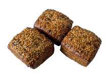 Broodjes op witte achtergrond Royalty-vrije Stock Afbeelding
