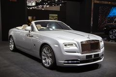 Broodjes Royce Ghost Convertible stock foto's