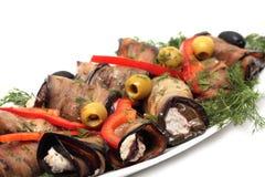 Broodjes van een aubergine Stock Afbeeldingen
