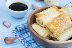 Broodjes van filodeeg Stock Foto