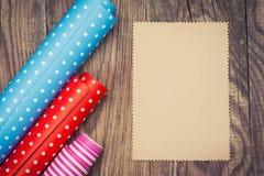 Broodjes van gekleurd verpakkend document Royalty-vrije Stock Afbeelding
